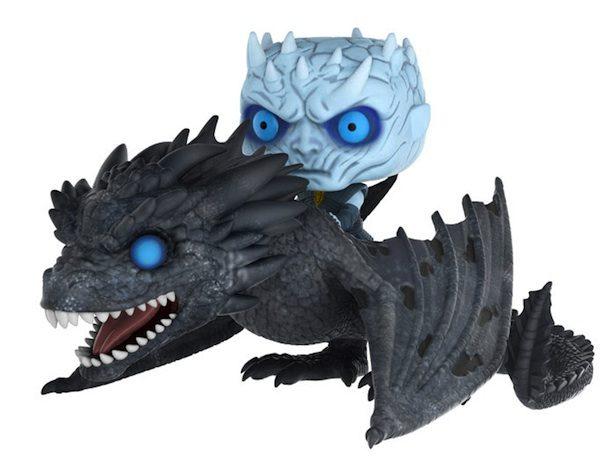 Rei da Noite de Game of Thrones monta em um Viserion no novo Funko Pop!