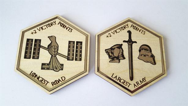 Colonizadores de Catan: tabuleiro customizado de Game of Thrones