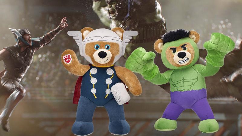 Ursinhos de pelúcia ganham versões de Thor e Hulk