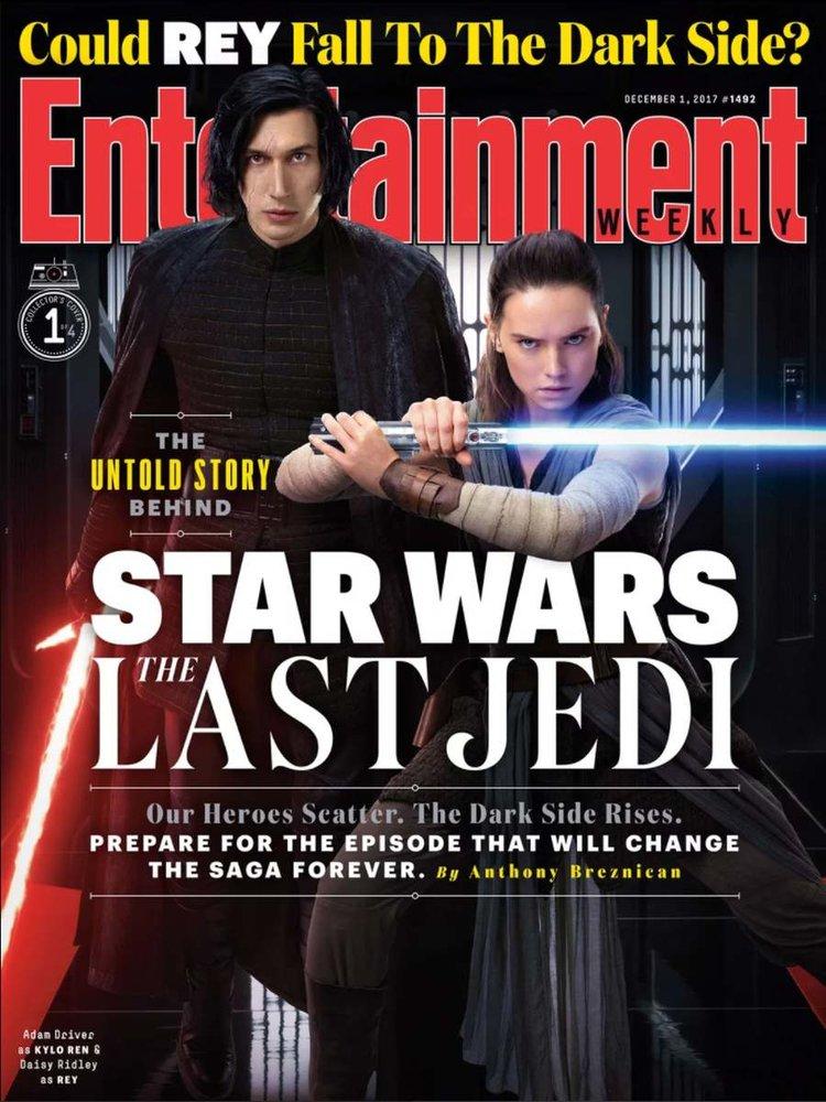 """Nova edição da EW apresenta imagens inéditas de """"Star Wars: Os Últimos Jedi"""""""