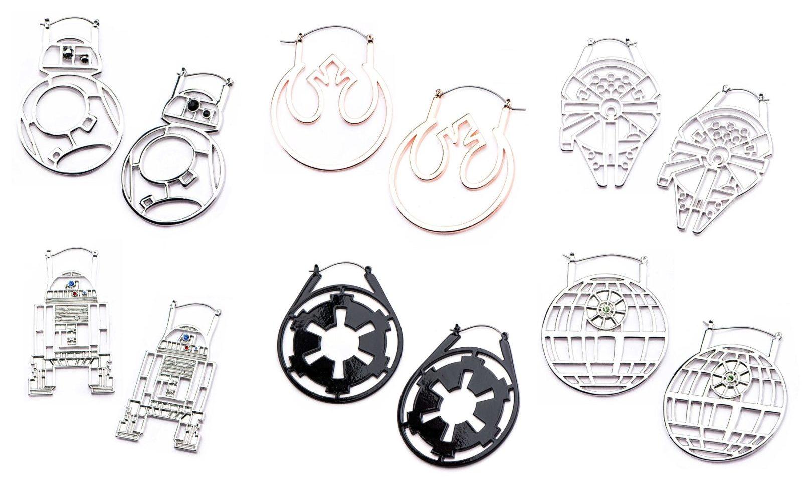 Acessórios Nerds: brincos com design temático de Star Wars