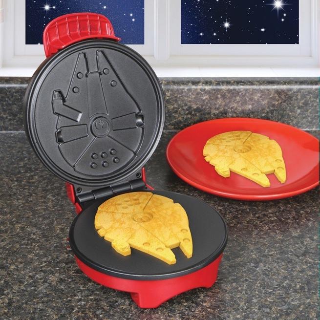 Waffles em formato da Millennium Falcon