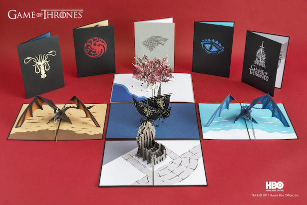 Cartões Pop-Up com artes do universo de Game Of Thrones