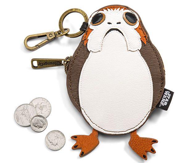 Star Wars: Porta moedas de personagens BB-9E, Porg e Akbar