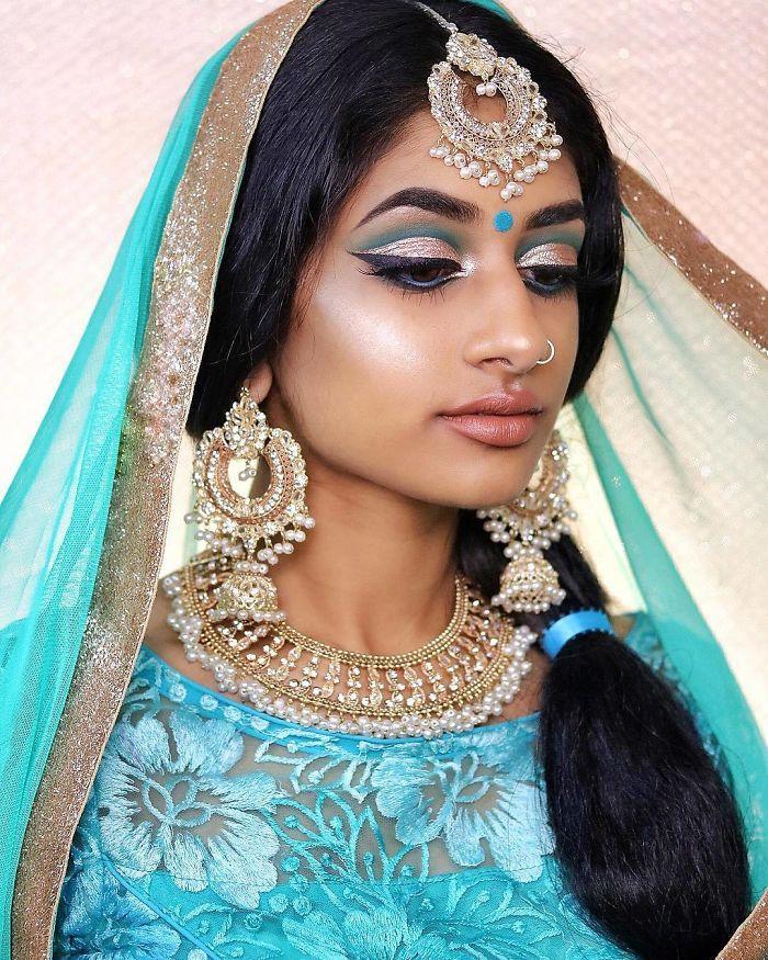 Modelo dá um toque indiano para as Princesas da Disney!