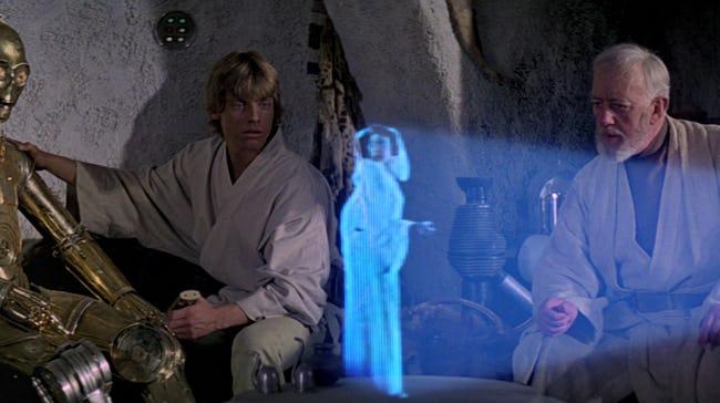 Star Wars: Holograma de Leia em Os Últimos Jedi já estava pronto à 40 anos