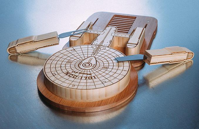 Star Trek: tábua de queijos inspirada em USS Enterprise (NCC-1701)