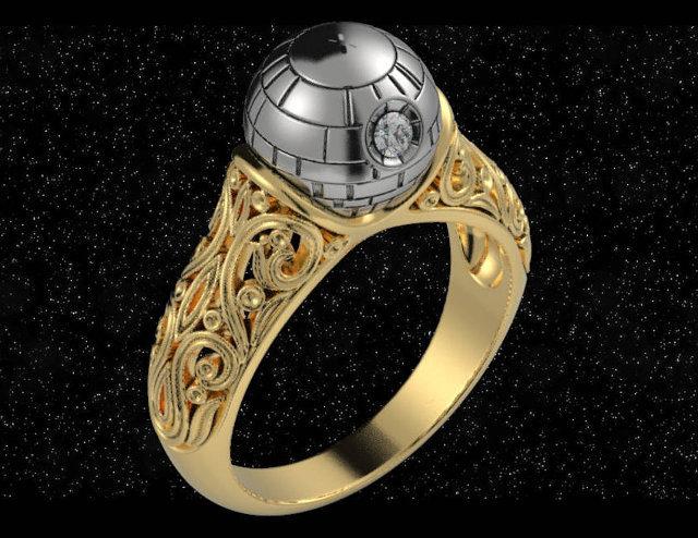 Star Wars: anel de noivado Estrela da Morte