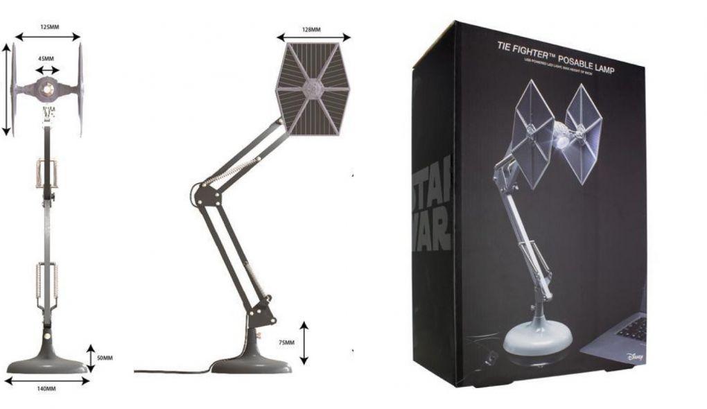 Star Wars: luminária de mesa inspirada em uma nave TIE Fighter